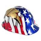 Freedom Series V-Gard Protective Cap - American Flag with 2 Eagles